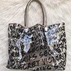 Victoria's Secret logo clear tote bag